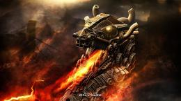 dragons fire orange steampunk high definition wallpaper download free 794