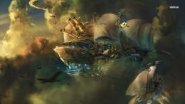 Steampunk Blimps Fantasy HD Wallpaper 327