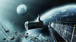 Download Submarine like spaceship wallpaper 245