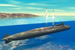 submarine underwater missile launch HD wallpaper 1364