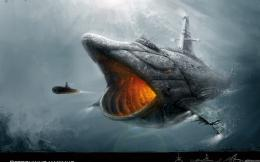 Ocean Submarine Whales Battles Underwater Fresh New Hd Wallpaper 1791