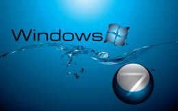 Windows 7 in Water Flow 1337