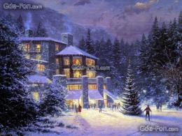 wallpaper Winter, holiday, picture, painting free desktop wallpaper 1329