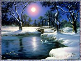 Christmas Winter Backgrounds for Desktop Winter Moon Wallpaper 1490