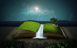 Nature Water Book HD Wallpaper Abstract free download 1173