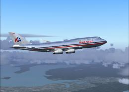 Boeing 747 American Airlines wallpaper 840