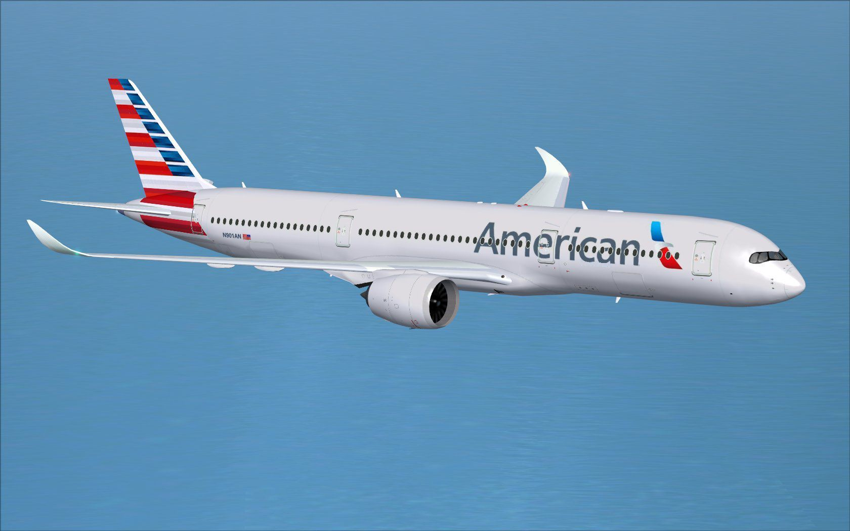 FSX American Airlines Airbus A350 900 V4 1847