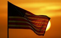 States Flag At Sunset, computer desktop wallpapers, pictures, images 1592