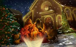 3d Animated Christmas Church BackgroundHD Wallpaper 259