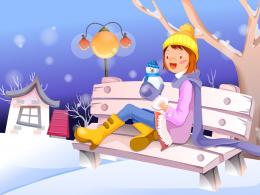 animated girl christmas HD wallpapers 1103