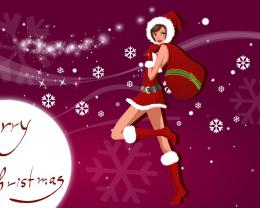 Download Free Christmas Girls Animated Hd Wallpaper: 808