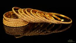 Indian Gold Bangles Design 1313