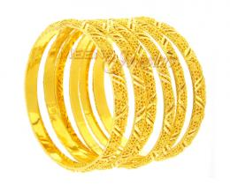 Indian Gold Jewelry Bangles Design | Gold Jewelry 1619