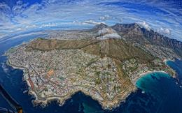 Cape Town South Africa Buildings Mountains Aerial Coast e wallpaper 909