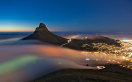 Cape town foggy night Wallpapers Pictures Photos Images 1907