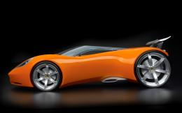 wallpapers concept car hd wallpaper Orange widescreen concept car 1865