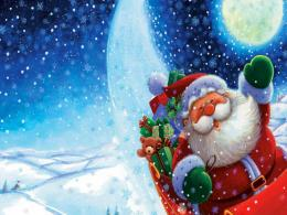 Free Merry Christmas Santa Claus HD Wallpapers for iPad 1495