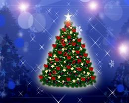 1024x768 Christmas Tree desktop PC and Mac wallpaper 499
