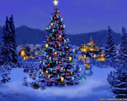Beautiful Christmas Tree Desktop Wallpaper 377