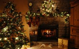 :desktopbackgrounds1 com christmas tree and fireplace wallpapers 136