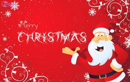 Merry Christmas Wishes Card Santa Claus Christmas HD Wallpapers for FB 564