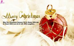 Christmas Ball Red Beautiful Christmas Ball Wallpaper with Wishes 901