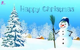 Happy Christmas Wishes with Snowman Greetings HD Wallpapers For 322