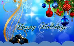 Blue Greetings and Wishes Card Wallpaper New Year Christmas Wallpaper 362