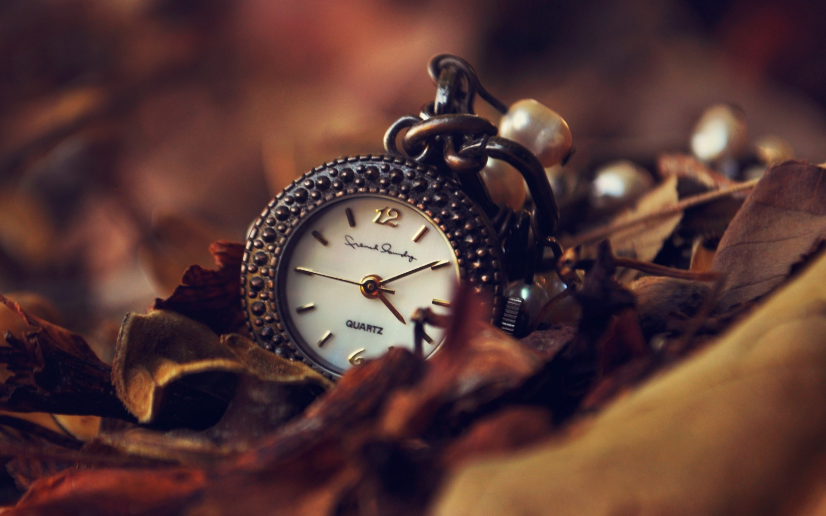 Clock Leaves Autumn HD Wallpaper is a awesome background Wallpaper 1526