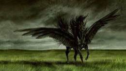 Black Angel Horse Hd Jootix Wallpaper with 1366x768 Resolution 1104