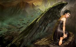 graphic angel black wallpaper Computer HD Wallpaper 1920x1200 px 1290