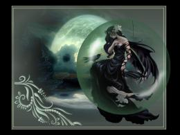 Dark moon angel raven gothic abstract HD Wallpaper 1609