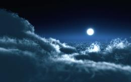 Moon Over Clouds 1116