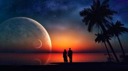 Lovers in a new world dream wallpaper evening sunset image jpg 923