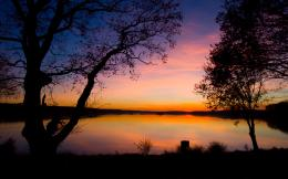 Dreamy lake sunset wide hd wallpaper 621