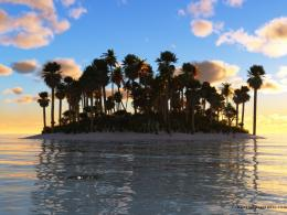 Dream island sunset wallpaper in 1600x1200 screen resolution 337