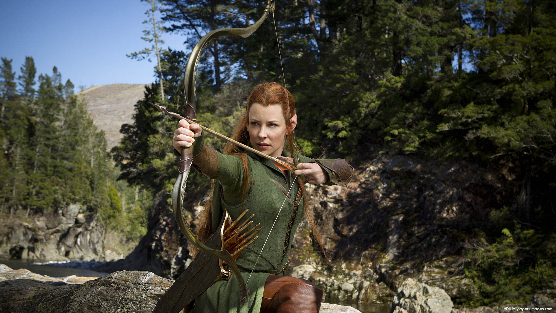 of the Rings The Hobbit Elf Bow Arrow Evangeline Lilly HD Wallpaper 639