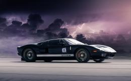 Ford GT Black Clouds Lightnings HD Wallpapers 1929