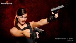 Girl with Gun Wallpaper: 1024×640 , 1280×800 , 1920×1080 1268