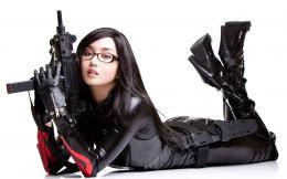 Uzi Girls With Guns Asian Theme Desktop Wallpapers Vvallpaper net jpg 1949