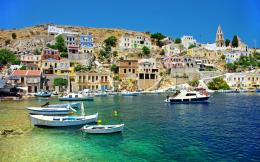 Greece Coast View HD Wallpaper 718