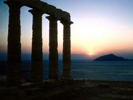 Temple of Poseidon Greece HD Widescreen Wallpaper 1049