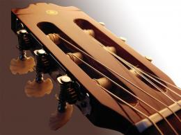 Guitar wallpaper, acoustic guitar headstock and tuners 1890