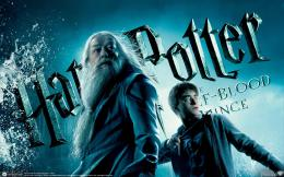 wallpaper harry potter y el misterio del principe Dumbledore y Harry 716