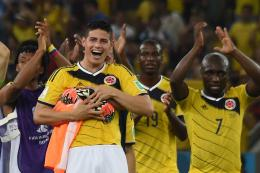 james Rodriguez Celebrating World Cup 2014 Wallpapers 1474