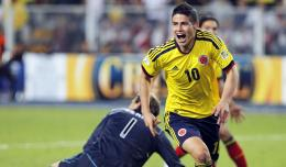 In these Wallpapers, Colombian Striker james Rodriguez is celebrating 876
