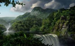 Jungle waterfall HD Wallpaper 1920x1080 Jungle waterfall HD Wallpaper 1496