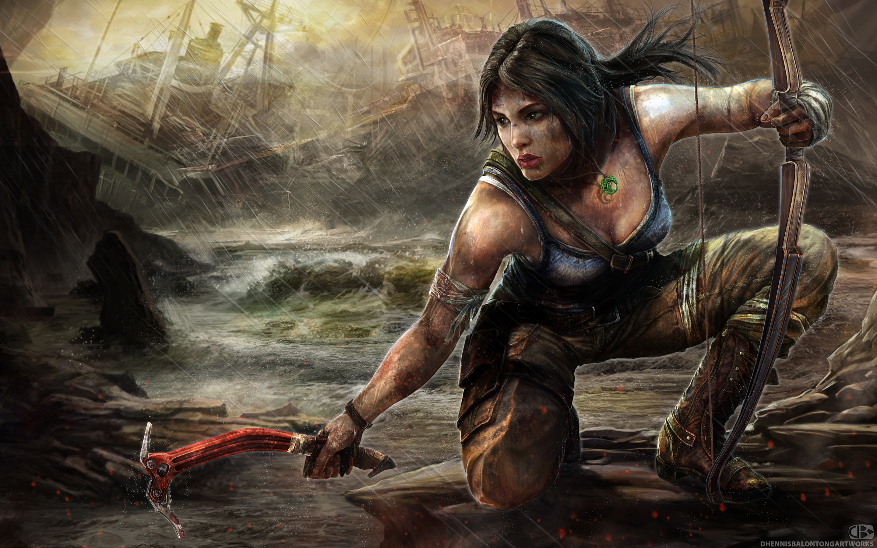 Lara Croft Tomb Raider 2013 Artwork HD Wallpaper #4347 1543