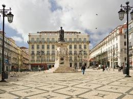 Lisbon city Camoens Square in Portugal city wallpaper 1062