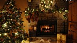 Christmas Fireplace 1366×768 Wallpapers Desktop Background 425